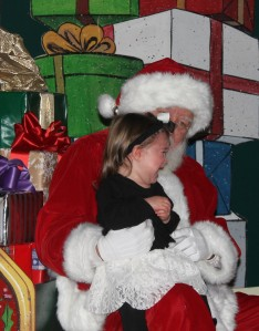 Toddler Visits Santa