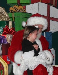 Toddler Visits Santa
