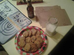 Milk and Santa cookies