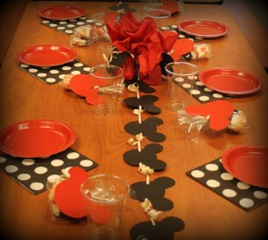 Minnie Mouse Theme Birthday Party Table
