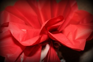 tissue paper puff flower tutorial
