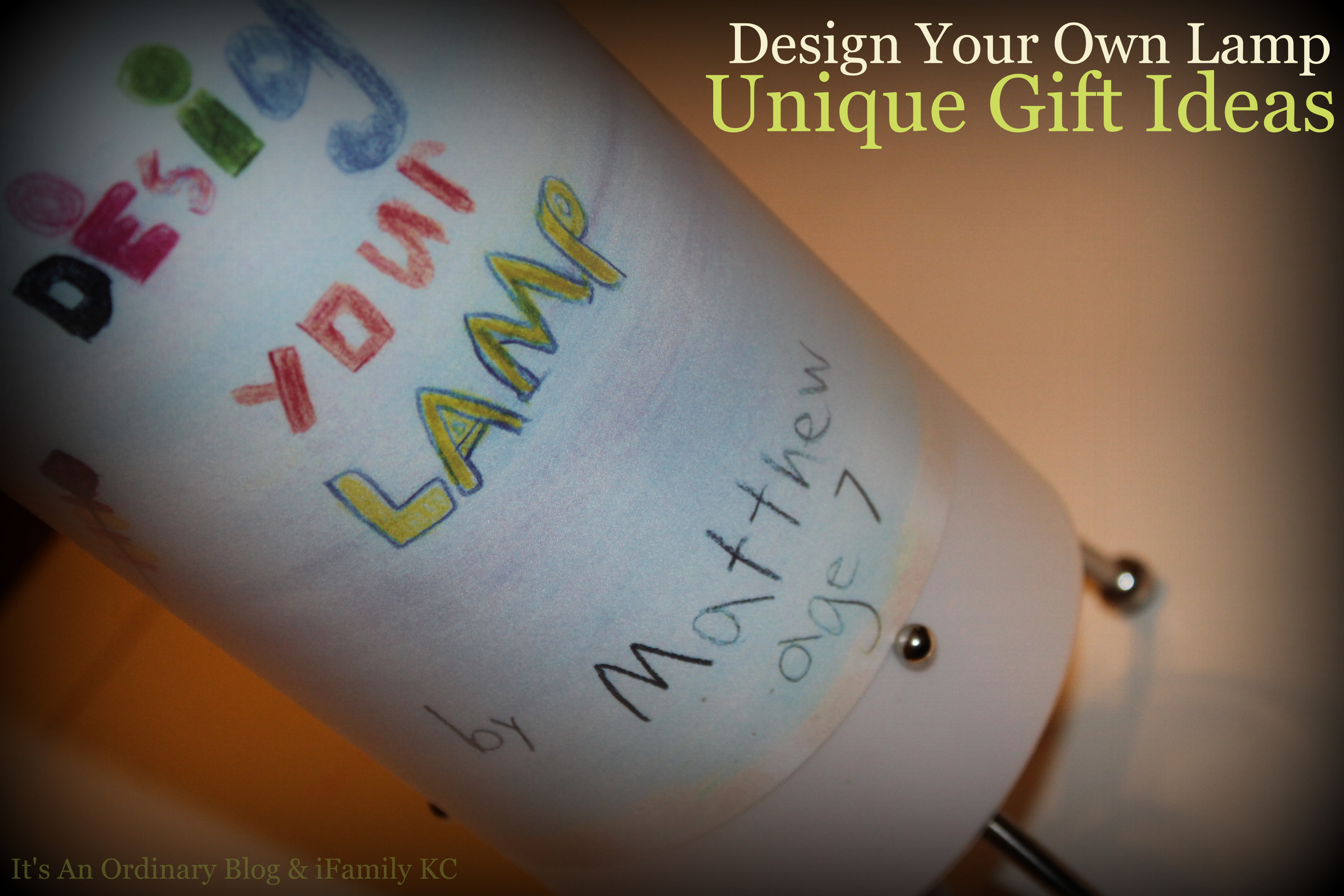 2013 holiday gift guide a 50 gift card giveaway an for Decorate your own lampshade