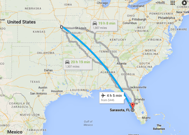 Kansas City to Sarasota